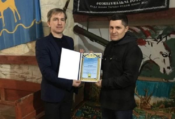 Волонтера та учасника АТО нагороджено у Бережанах