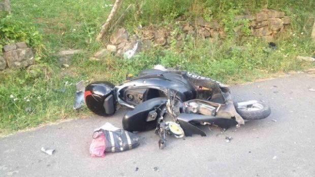 Аварія: молодий скутерист потрапив у реанімацію з важкими травмами