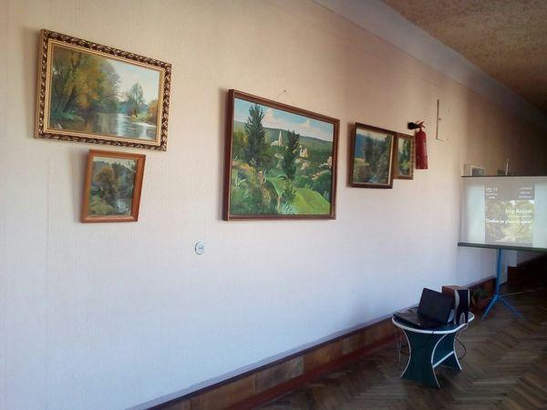 У школі села Струсів на Теребовлянщині відбулося відкриття виставки картин місцевого художника