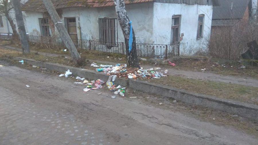 У Бережанах гостей зустрічає не лише вітальна вивіска, а й сміття (Фотофакт)