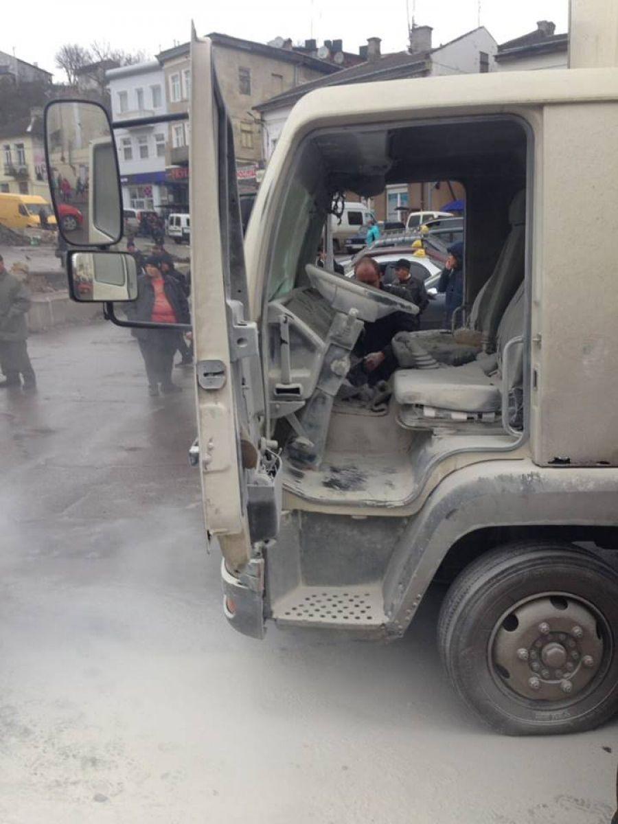 На Тернопільщині горіла вантажівка (Фото)