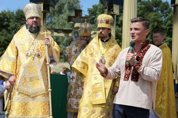 На запрошення Михайла Головка настоятель ПЦУ Епіфаній приїхав на Збаражчину вшанувати пам'ять воїнів УПА (Відео)