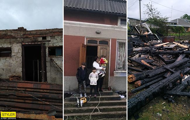 На Західній Україні підпалили будинок багатодітної вдови ветерана АТО: всі деталі і відео