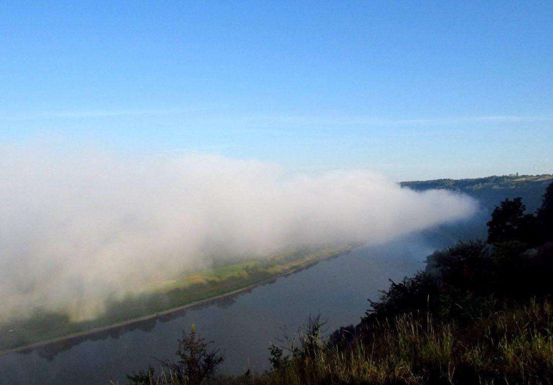 Серпнева краса: на Тернопільщині річку вкрив ранковий туман (ото)