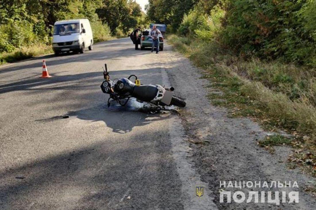Чоловік потрапив у реанімацію, перекинувшись на мотоциклі