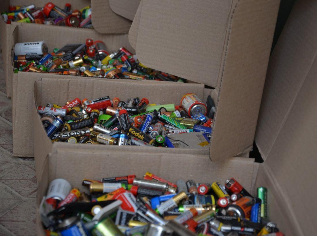З Чорткова на переробку в Європу відправили понад 100 кг батарейок
