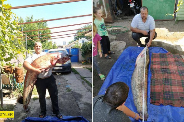 Українець зловив гігантського сома: вражаючі фото