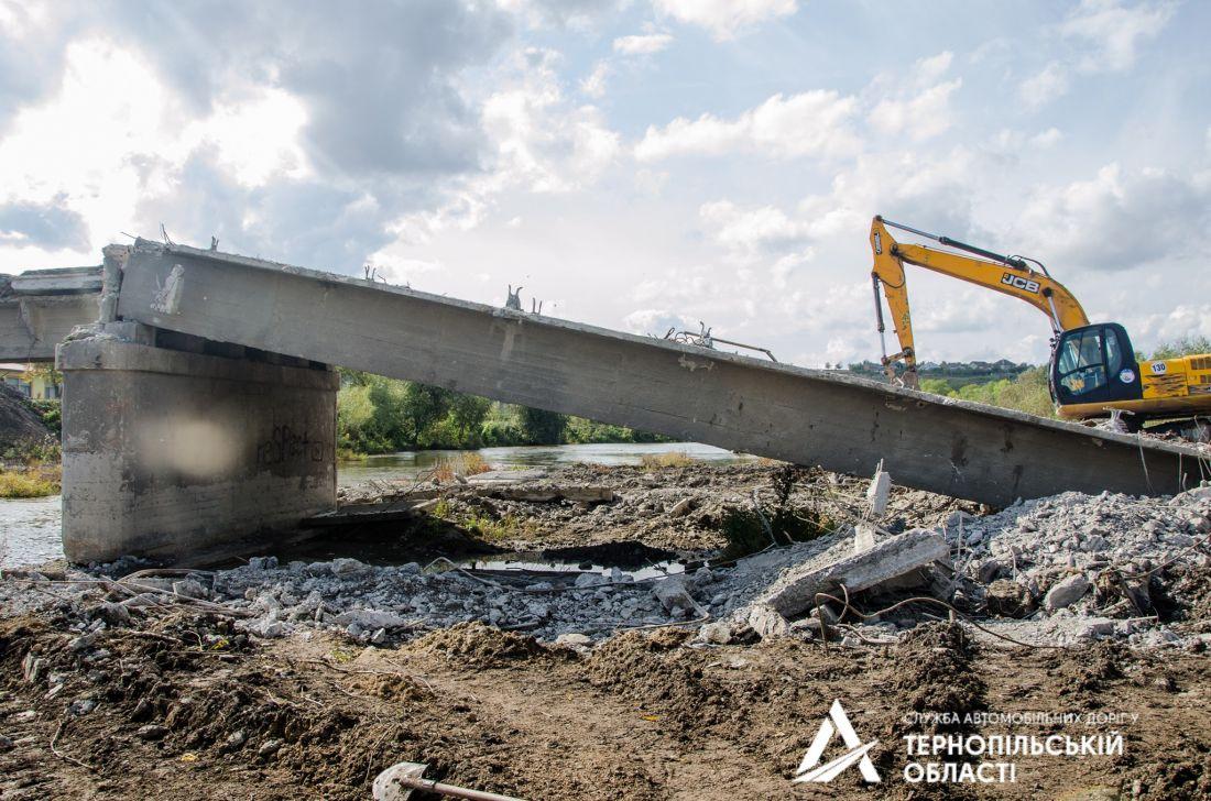 На Тернопільщині розпочався капітальний ремонт автомобільного мосту через річку Серет (Фото)